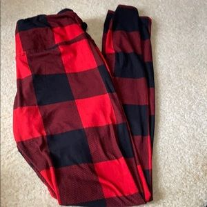 Red and Black Pajama Bottoms